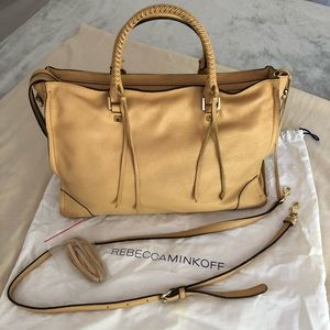 Rebecca Minkoff Regan Satchel Pebbled Leather